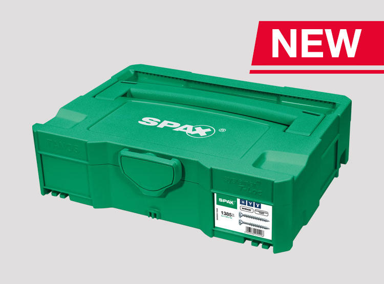 The SPAX Box systainer - now available in specialist shops!