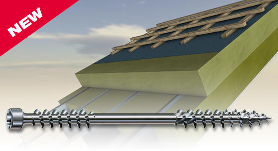 SPAX-Iso — the insulation screw for roofs and facades